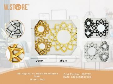 Set Oglinzi cu Rama Decorativa 3buc 053792