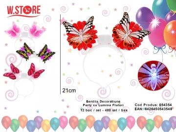 Bentita Decoratiune Party cu Lumina Fluturi 054354