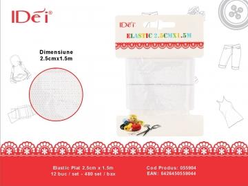 Elastic Plat 2.5cm x 1.5m 055904