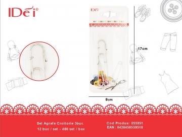 Set Agrafe Croitorie 3buc 055951