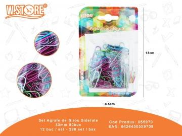 Set Agrafe de Birou Sidefate 33mm 80buc 055970