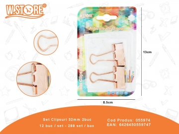 Set Clipsuri 32mm 2buc 055974