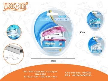 Set Mini Capsator cu Capse GW-368C 056029