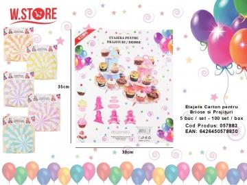Etajera Carton pentru Briose si Prajituri 057883
