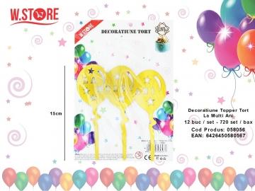 Decoratiune Topper Tort La Multi Ani 058056 Auriu