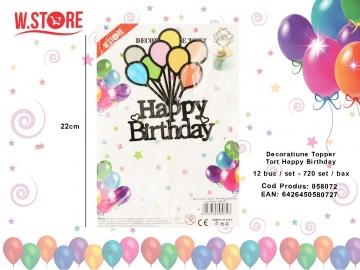 Decoratiune Topper Tort Happy Birthday 058072