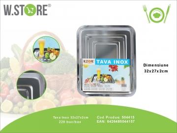 Tava Inox 32x27x2 cm. BUC0483