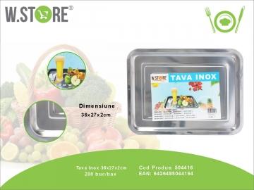 Tava Inox 36x27x2 cm. BUC0482