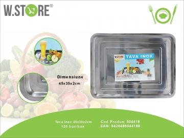 Tava Inox 45x35x2 cm. BUC0480