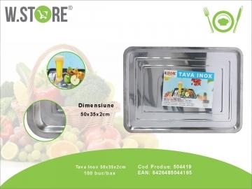Tava Inox 50x35x2 cm. BUC0479