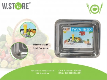 Tava Inox 32x27x5 cm. BUC0484