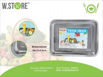 Tava Inox 36x27x5 cm. BUC0476