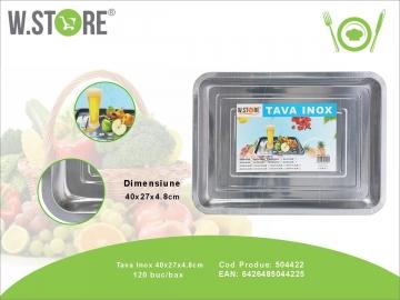 Tava Inox 40x24x5 cm. BUC0477