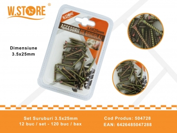 Set Suruburi 3.5x25 mm BRI0070