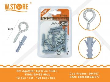 Set agatatori Tip O cu Filet + Diblu 6#+E5 BRI0067