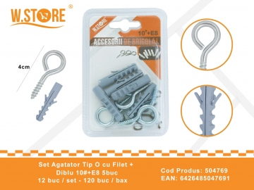 Set agatatori Tip O cu Filet + Diblu 10#+E8 BRI0059
