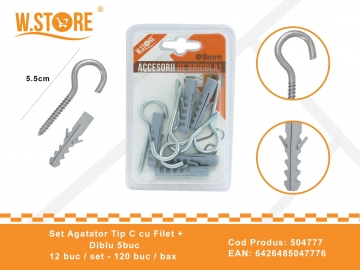 Set agatatori Tip C cu Filet + Diblu 8 mm BRI0058