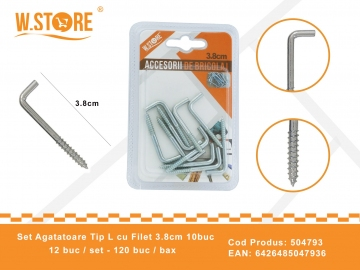 Set agatatori Tip L cu Filet 3.8 cm BRI0071