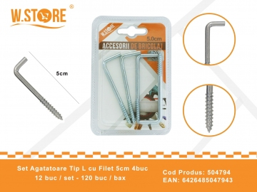 Set agatatori Tip L cu Filet 5.0 cm BRI0073