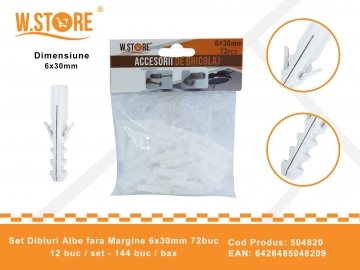 Set 72 Dibluri Fara Margine 6x30 mm BRI0153