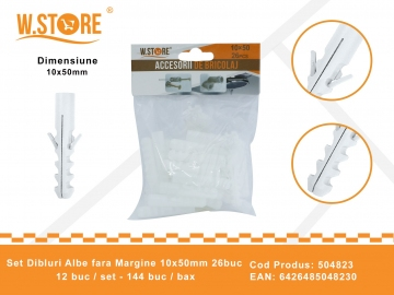 Set 26 Dibluri Fara Margine 10x50 mm BRI0154