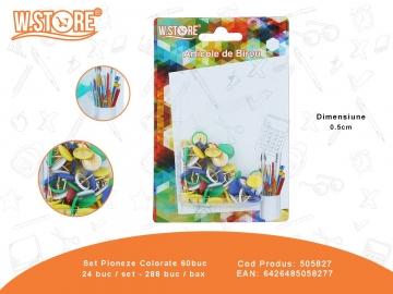 Set Pioneze Colorate 60buc 505827