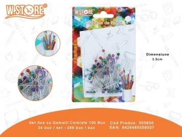 Set Ace Cu Gamalie Colorate 100 Buc 505830