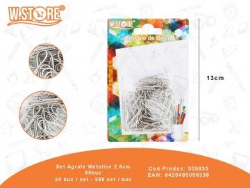 Set Agrafe Metalice 2.8cm 80buc 505833