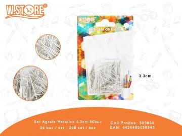 Set Agrafe Metalice 3.3cm 60buc 505834