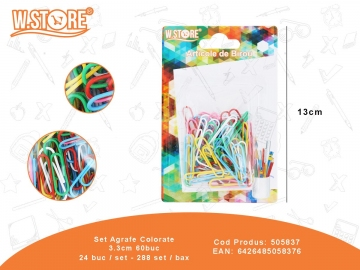 Set Agrafe Colorate 3.3cm 60buc 505837