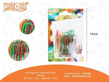 Set Agrafe Colorate 5cm 40buc 505838