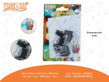 Set Clipsuri Metalice 5# 8 buc 505850