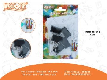 Set Clipsuri Metalice 4# 5 buc 505851