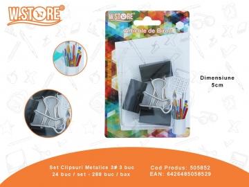 Set Clipsuri Metalice 3# 3 buc 505852