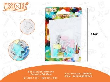Set Clipsuri Metalice Colorate 5# 8Buc 505854