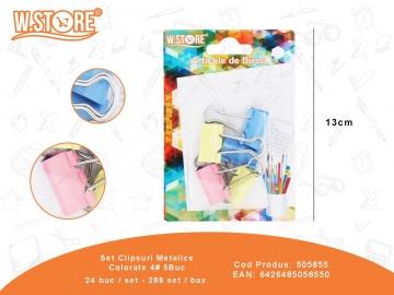 Set Clipsuri Metalice Colorate 4# 5Buc 505855
