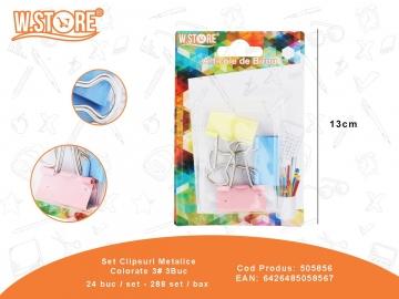 Set Clipsuri Metalice Colorate 3# 3Buc 505856