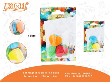 Set Magnet Tabla Inima 5Buc 505872