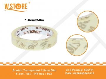 Scotch Transparent 1.8cmx 50m 506181