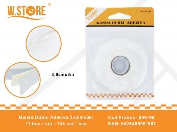 Banda Dublu Adeziva 3.6cmx3m 506198