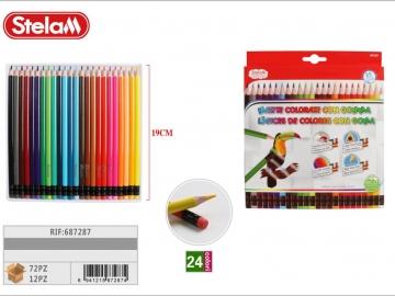 Set Creioane Colorate cu guma 24buc 687287