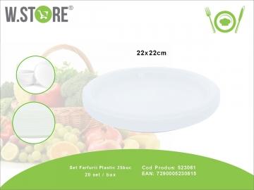 Set Farfurii Plastic 25buc 523061