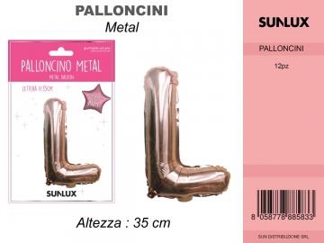 Balon Folie Rose Gold Litera L 35cm 7888583