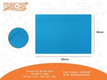 Carton A3 JB-035 Azul 50x65cm 180g 2042435