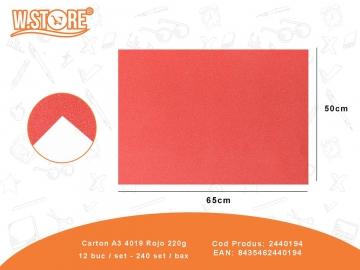 Carton A3 4019 Rojo 220g 2440194