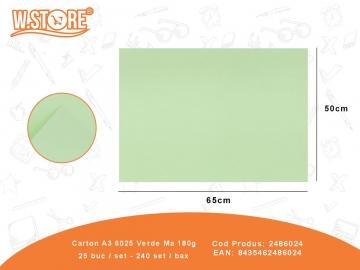 Carton A3 6025 Verde Ma 180g 2486024