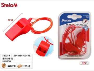 Set Fluiere Plastic cu Snur 2buc 860288
