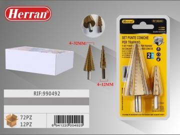 Set Burghiu Conic in trepte pentru metal 4-12mm 4-32mm 2buc 990492