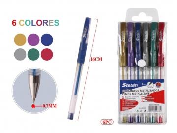 Set Pixuri cu Gel Culori Metalice 6buc 999838